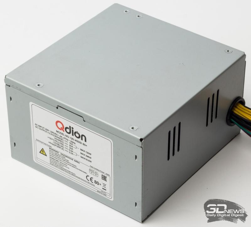 Блоки питания FSP ATX-450PNR-I и QDION QD450SI 80+: два предложения сборщикам